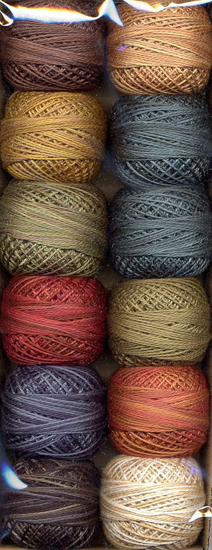 Valdani Size 8 Perle Cotton Embroidery Thread Folk Art Fusion Collection 1 (PC8-FolkArt1)