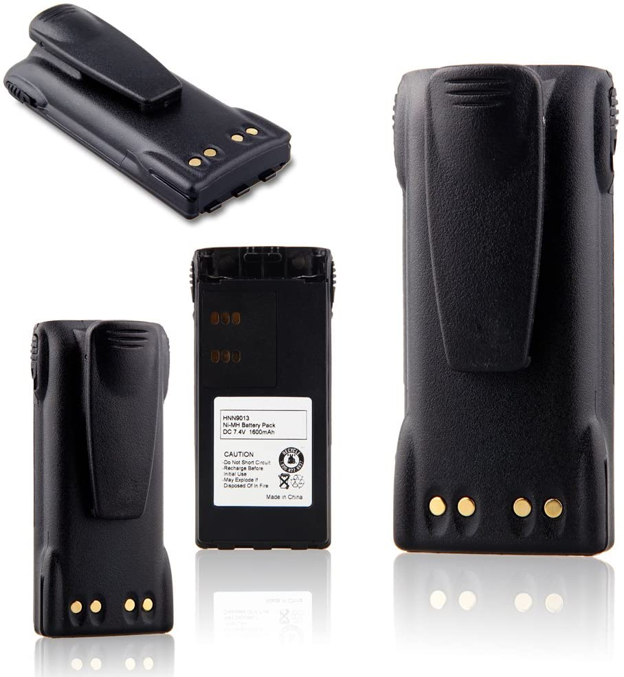 TOPCHANCES New 7.4V 1600mAh Two-Way Radios Battery for Motorola HNN9013 HNN9013A HNN9013B HNN9013DR HNN9013D_RHT750 HT1225 HT1250 HT1550 GP140 GP320 GP328 GP338 GP340 GP640 GP680