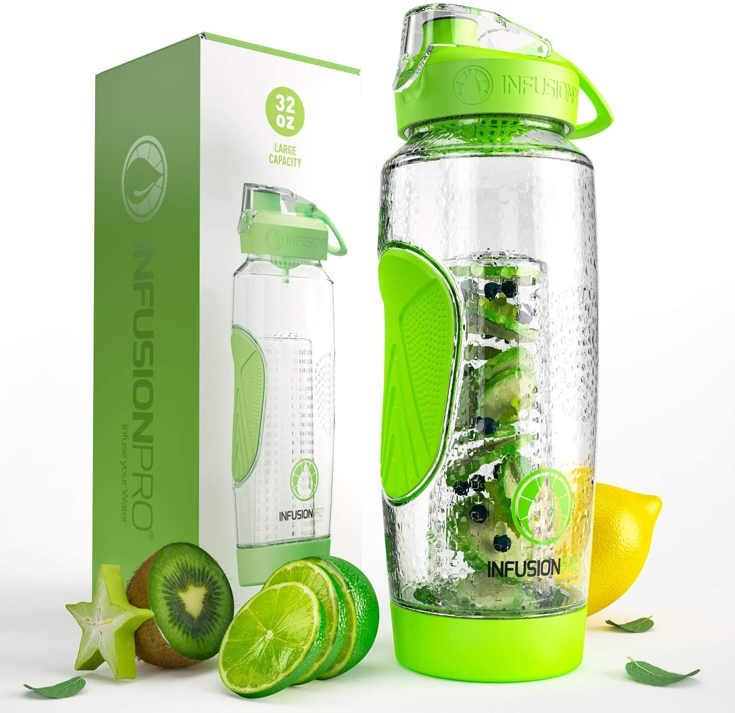Infusion Pro 32 oz. Fruit Infused Water Bottle With Insulated Sleeve