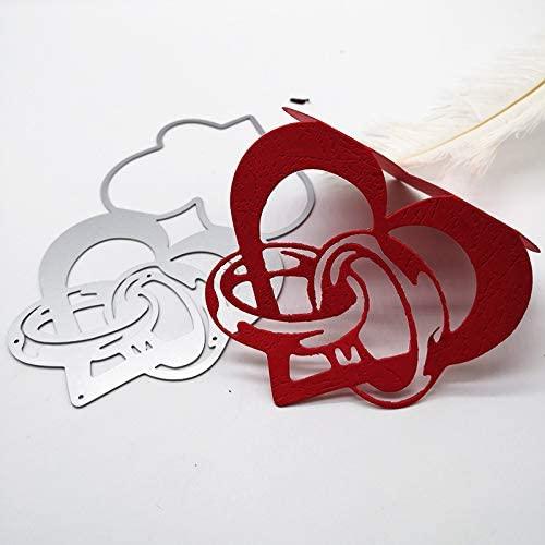 Spancolor craft Heart Shape Love die Cut for Valentine Wedding cardmaking Album Embossing Scrapbooking on Under 5
