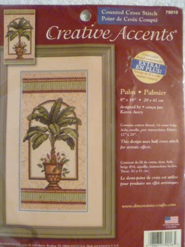 Palm - Creative Accents Counted Cross Stitch 8X16