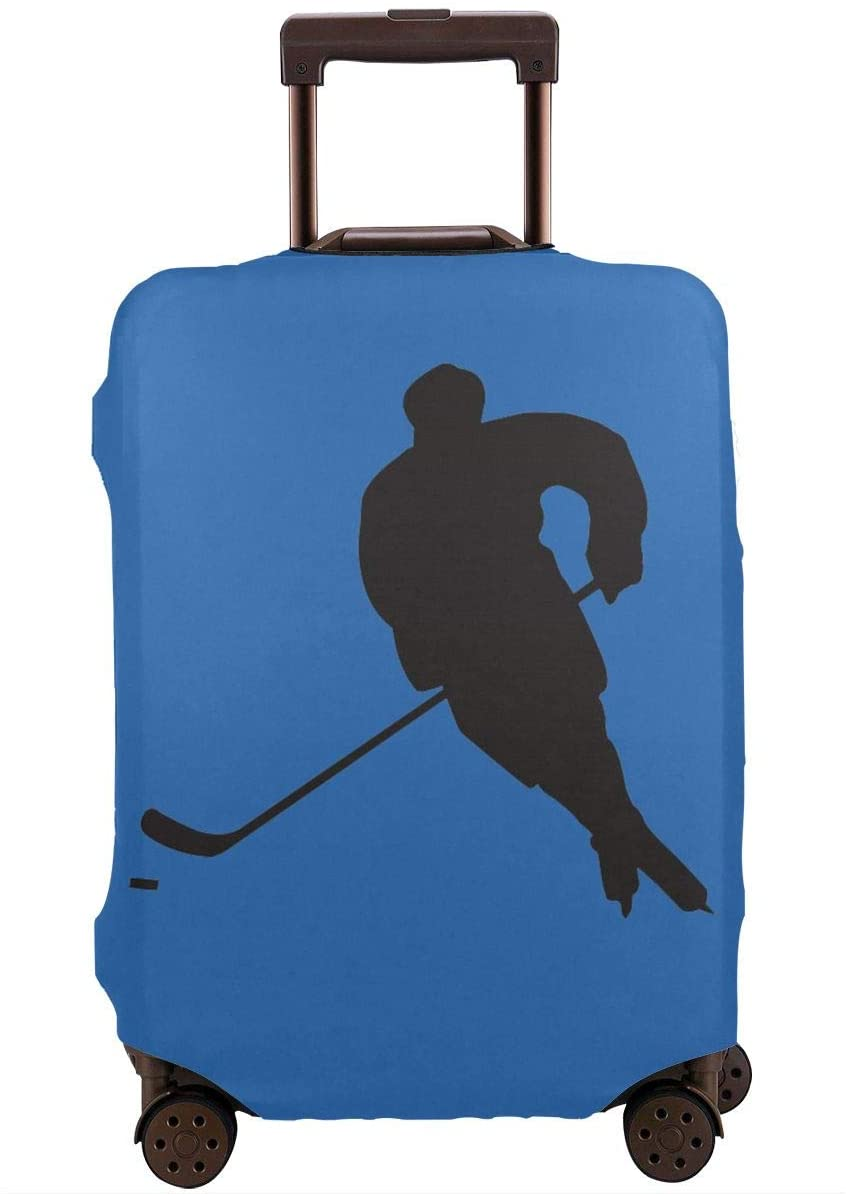 Travel Luggage Cover Ice Hockey Anti-Scratch Baggage Suitcase Protector Cover Fits 18-32 Inch