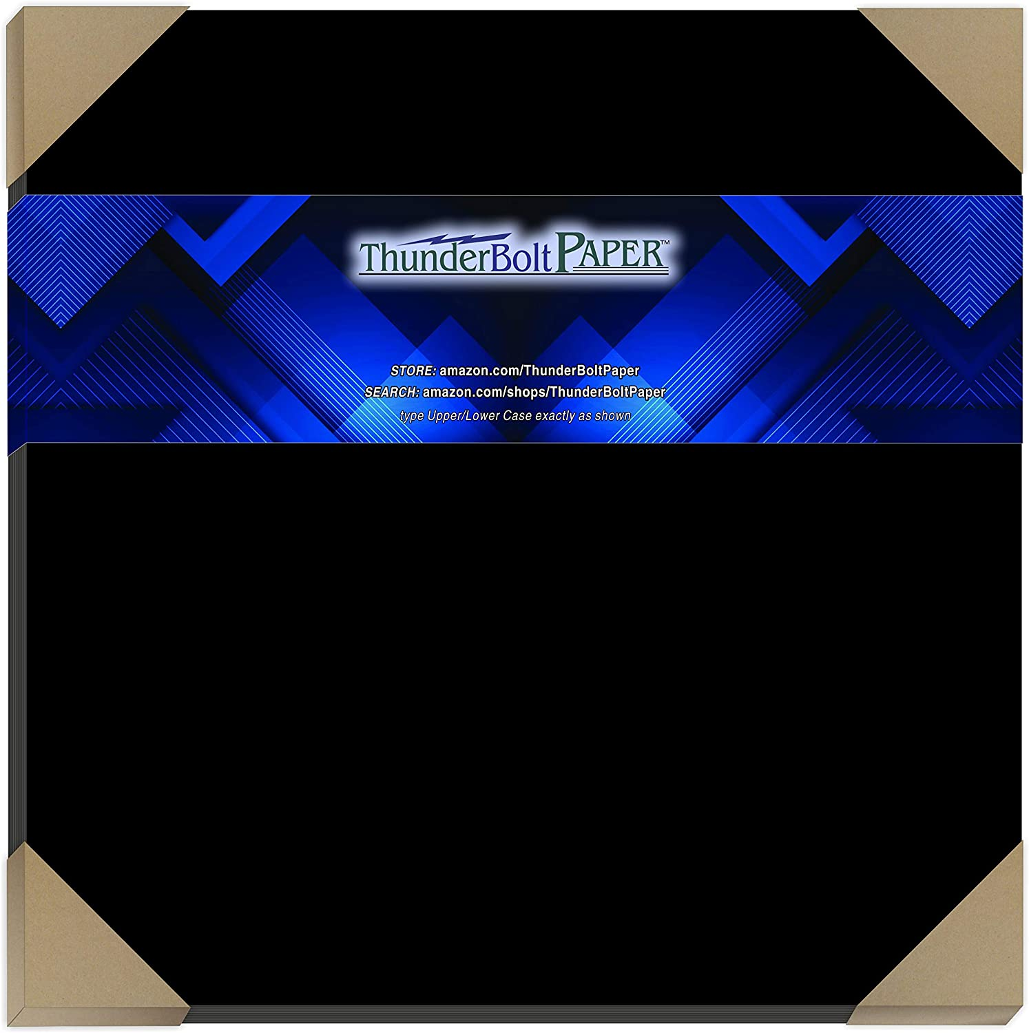 15 Dark Black Smooth Card Sheets - 100# (100 lb/Pound) - 12 X 12 Inches Scrapbook Album|Cover Size - Cover Weight Fine Paper for Quality Results on a Smooth Finish