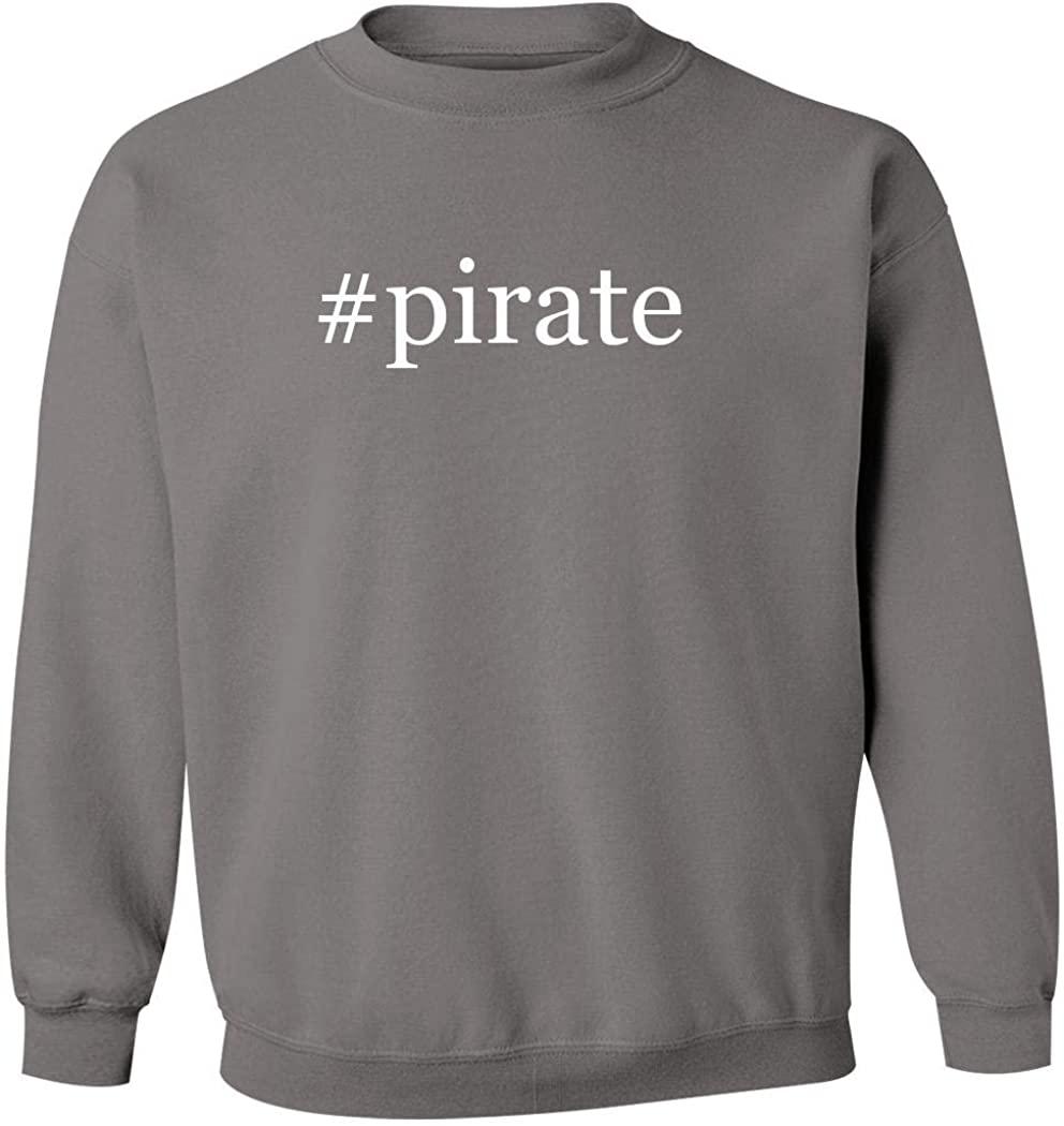 #pirate - Men's Hashtag Pullover Crewneck Sweatshirt, Grey, Small