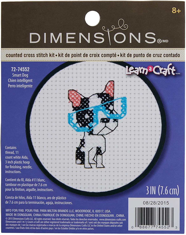 DIMENSIONS Needlecrafts 72-74552 Smart Dog Counted Cross Stitch Kit
