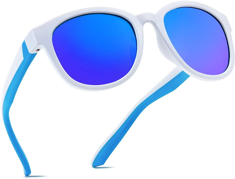 Kids Sunglasses Polarized Sport TPEE Unbreakable Flexible UV Protection for Boys Girls Age 6-12