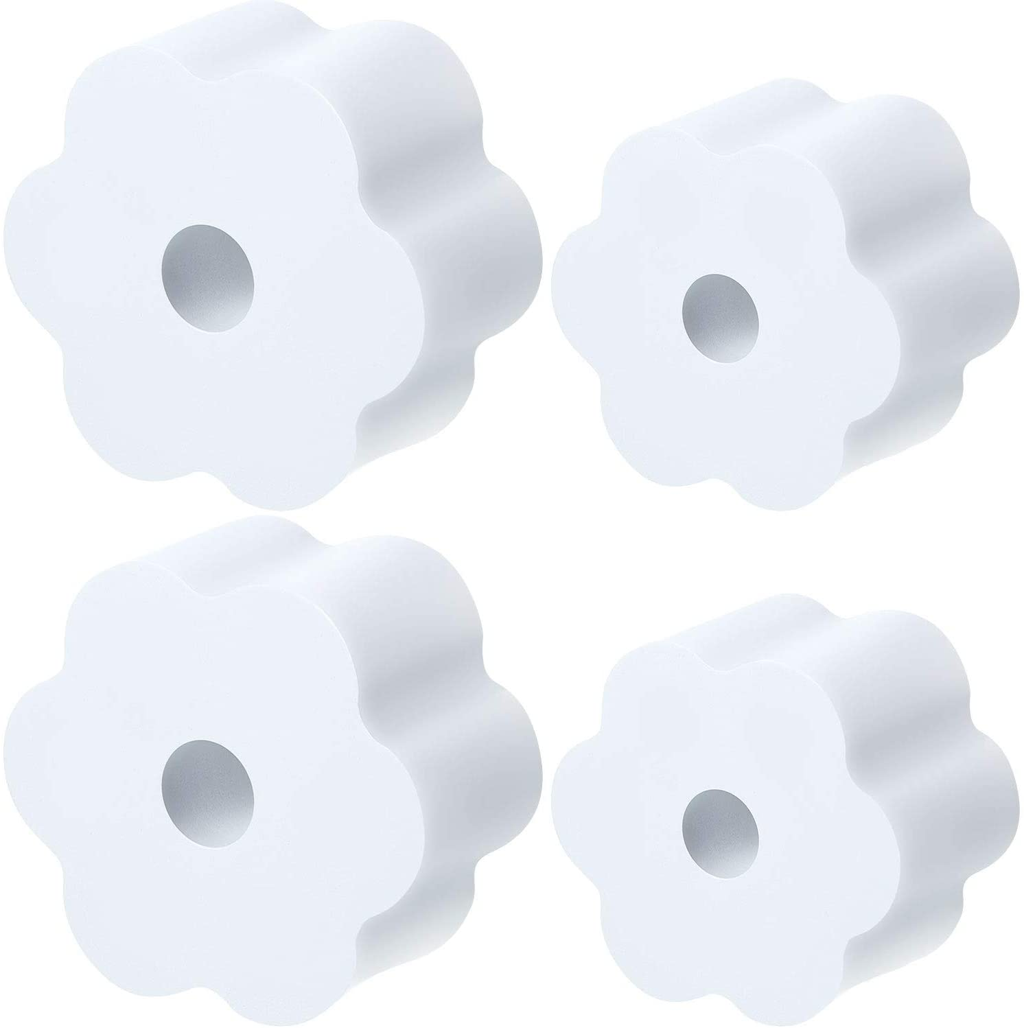 Cup Turner Foam Set, 4 Pieces Tumbler Foam for 1/2 Inch PVC Pipe, Tumbler Spinner Foams Fit 30 oz 20 oz 10 oz Tumbler Bottles Cups (White)