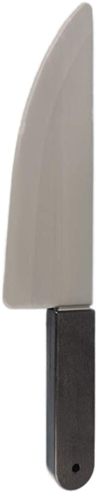 NOVELTY GIANT WWW.NOVELTYGIANT.COM Jumbo Plastic Butcher Knife Costume Prop Black, Grey