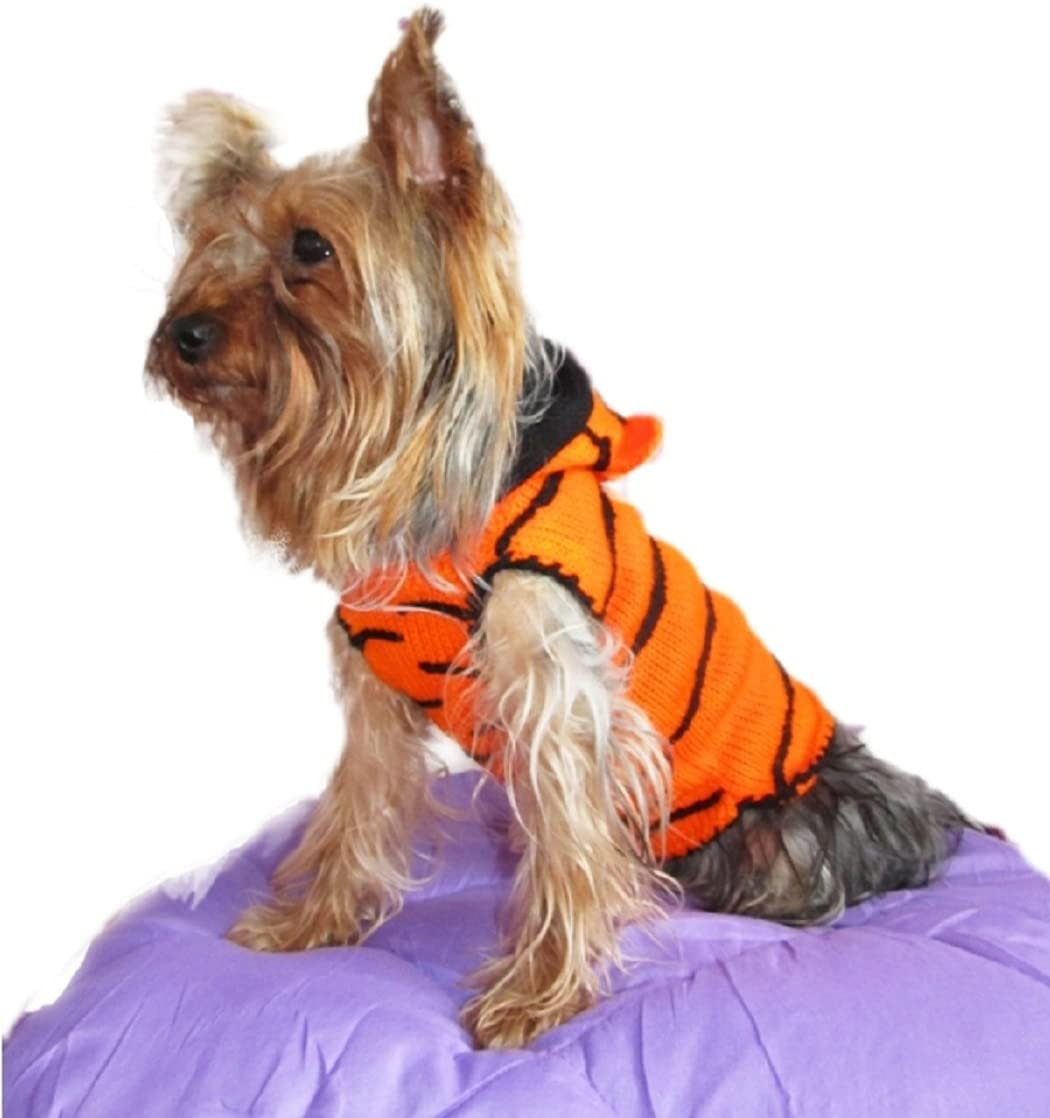 XS Dog Sweater Tiger X Small Dog Costume Yorkie Clothes for Chihuahua Clothing Puppy Outfits Apparel