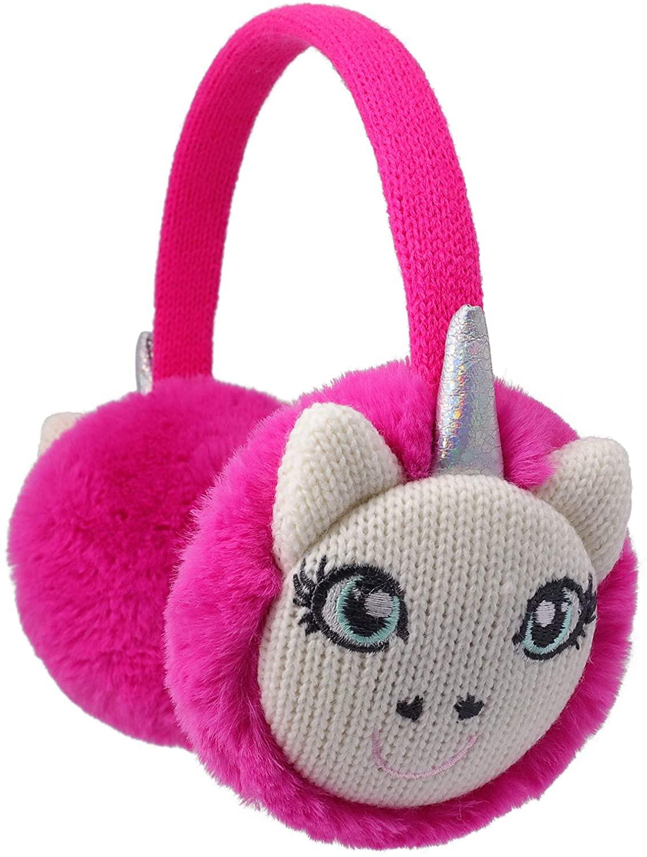 Flammi Kids Winter Earmuffs Unicorn Warm Faux Fur Ear Warmers for Boys Girls
