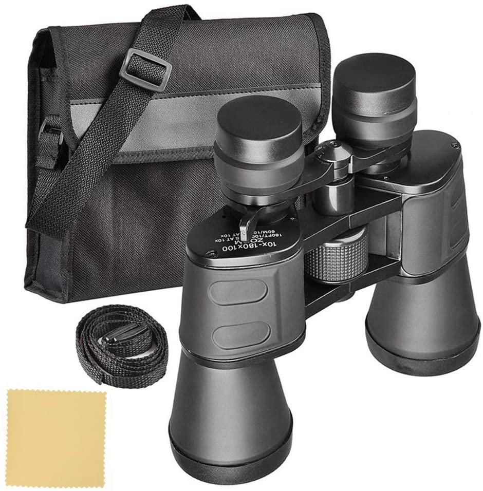 OhhGo 10-180x100 High Magnification Long Range Wide Angle Zoom Telescope Professional Binoculars