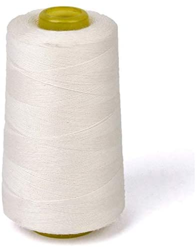 White Cotton Thread for Sewing Machine - New-Unbleached Cotton Sewing Thread for Sewing Machine (White) - by FriccoBB