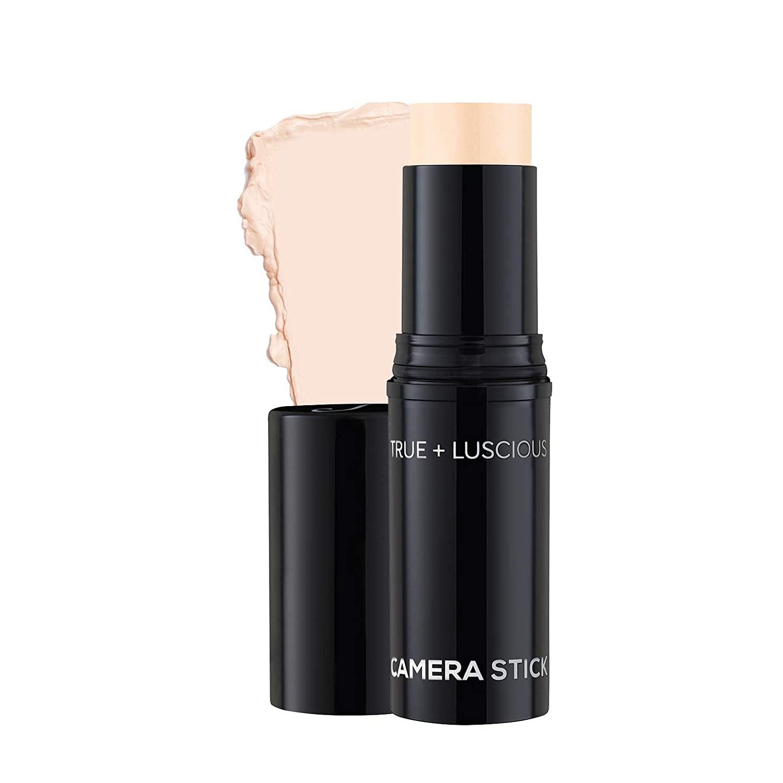 Camera Stick Foundation by True + Luscious - Full Coverage Cream Foundation - Non-Comedogenic & Hydrating Formula - Vegan, Paraben Free, Cruelty Free - 0.49 oz (Shade 1: Light Beige)