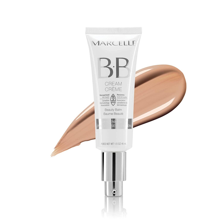 Marcelle BB Cream Beauty Balm, Medium, Hypoallergenic and Fragrance-Free, 45 mL