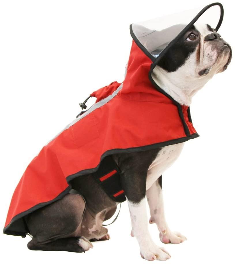 Gooby Dog Rain Coat with Functional Adjustable Rain Cap
