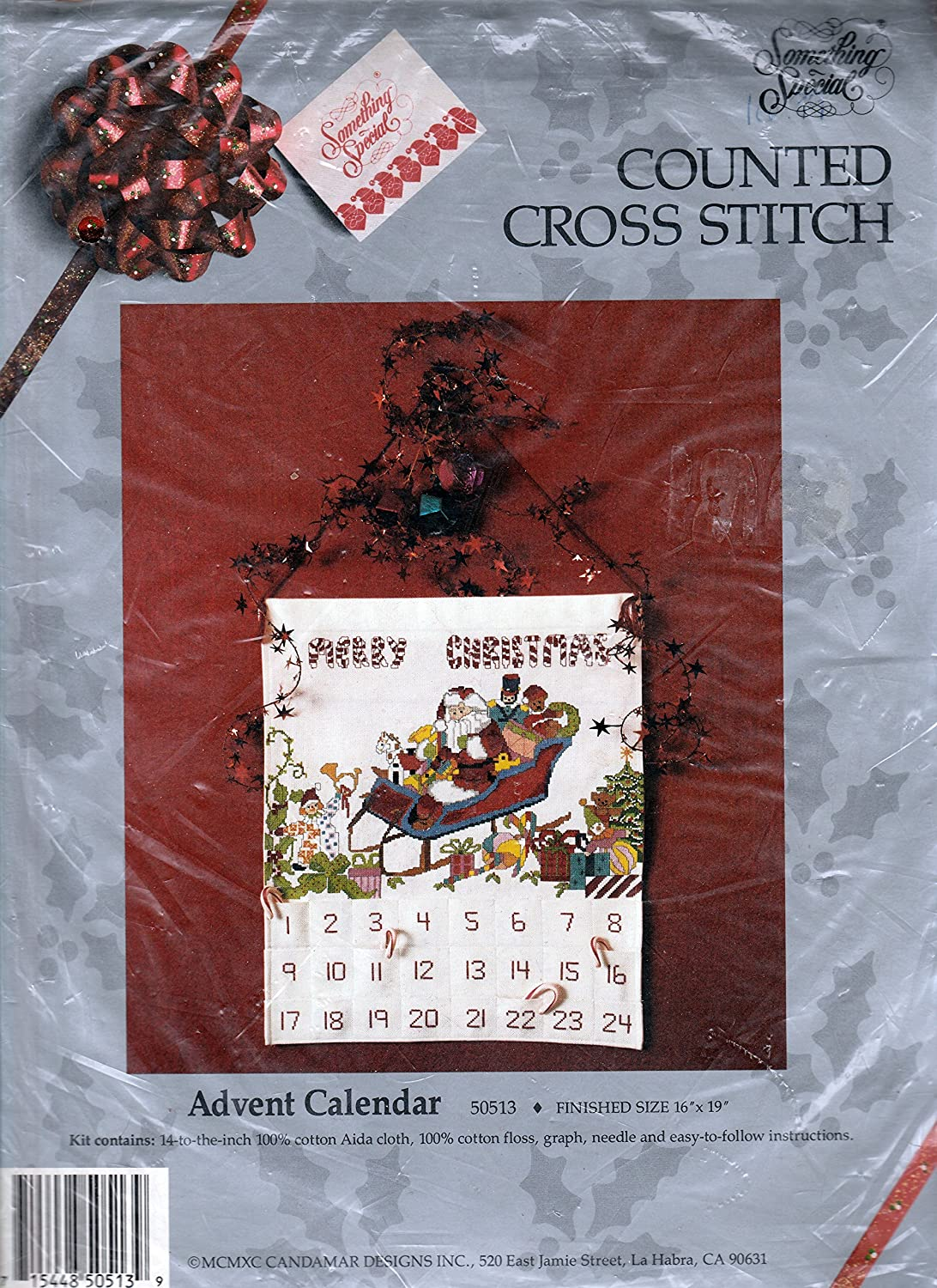 Candamar Something Special Counted Cross Stitch Advent Calendar Kit
