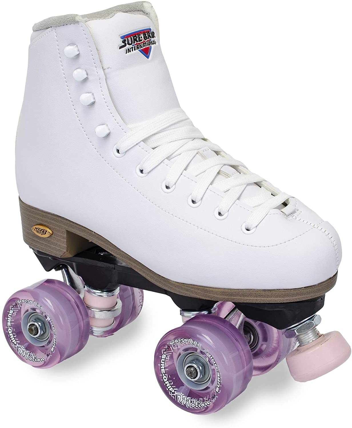 Sure-Grip White Fame Roller Skate Pink Motion Outdoor