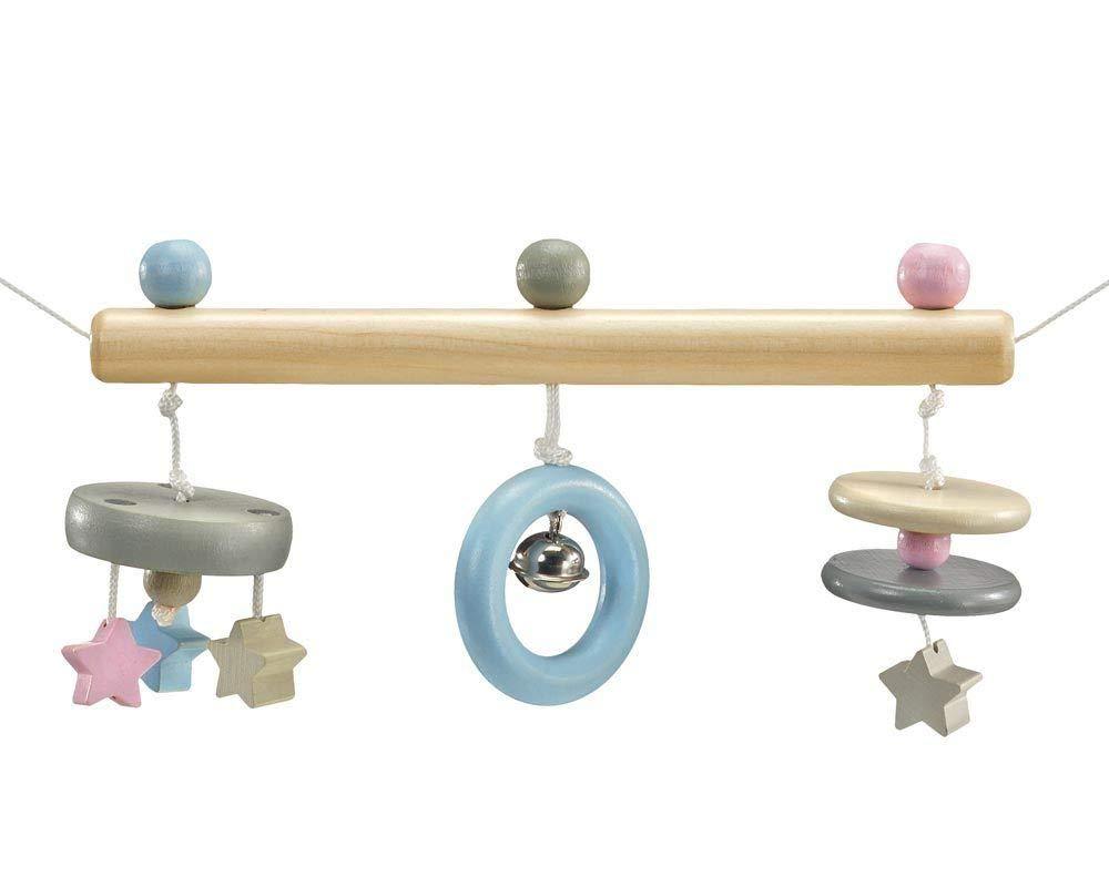 Selecta Pram Chain Wooden Stars 64016, Belly Button, 63cm, Multi-Colour