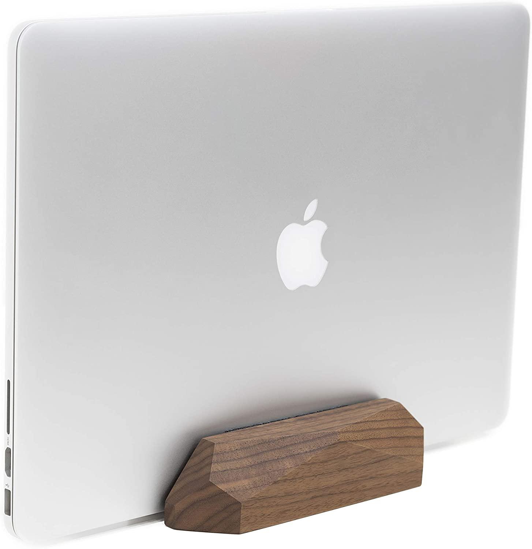 Oakywood Laptop Dock - Vertical MacBook Stand {Walnut}