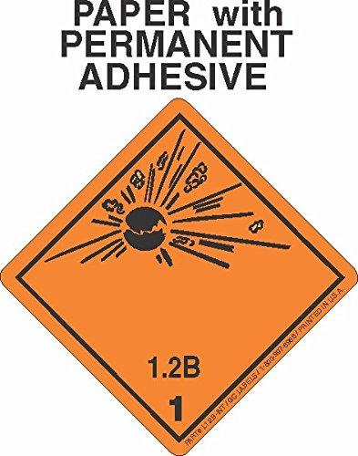 GC Labels-L12BI, Explosive Class 1.2B Wordless (International) Paper Labels, Roll of 500 Labels