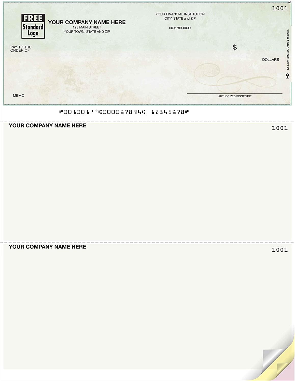 Computer Checks Compatible with Quickbooks, Premium Green Marble (Quantity 250)