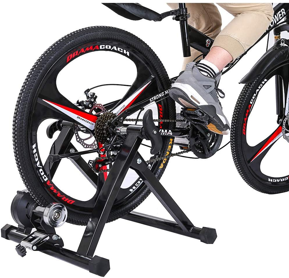 Sanyyanlsy US Stock Bike Trainer Stand Stationary Stand for Indoor Exercise Magnetic Resistance Training Rack Parking Fitness Device