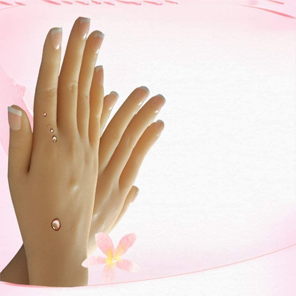 Left Or Right Hand Silicone Hand Flexible Silicone Prosthetic Silicone Hand Female Art Soft Practice Hand 0829 (Color : Righthand)