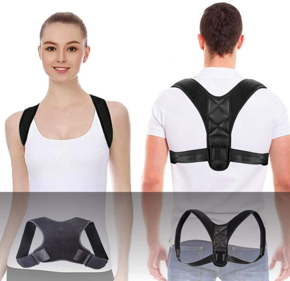 Posture Corrector for Women and Men,Back Brace Straightener Adjustable Under Clothes Support,Upper Pain Relief from Neck Back Shoulder,Upright Posture Trainer Body (Variety Model 2 Pack Universal)