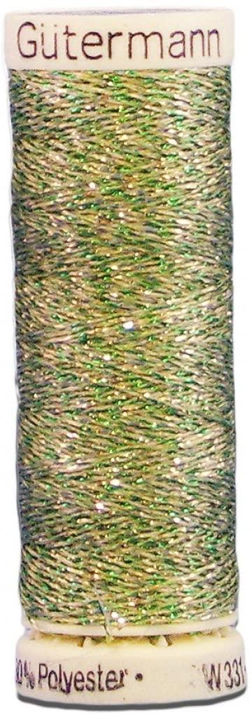 Gutermann Metallic Effect Nylon/Polyester Thread, 50m/55 yd, Lime