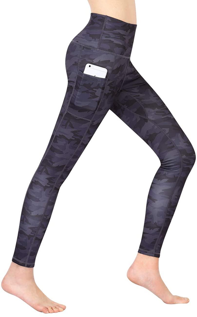 Clearlove High Waist Yoga Pants Tummy Control Pockets Leggings Non See-Through