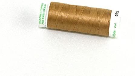 Mettler No 60 Fine Machine Quilting Thread 200m 200m 3514 Brass - each