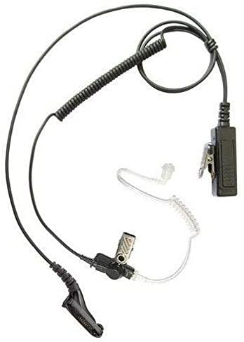 Single Wire Acoustic Tube Surveillance Earpiece Headset for Motorola XiR P8200 Two Way Radio