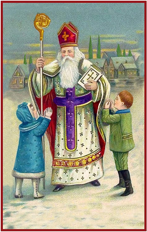 Orenco Originals Religious Santa Father Christmas Counted Cross Stitch Pattern