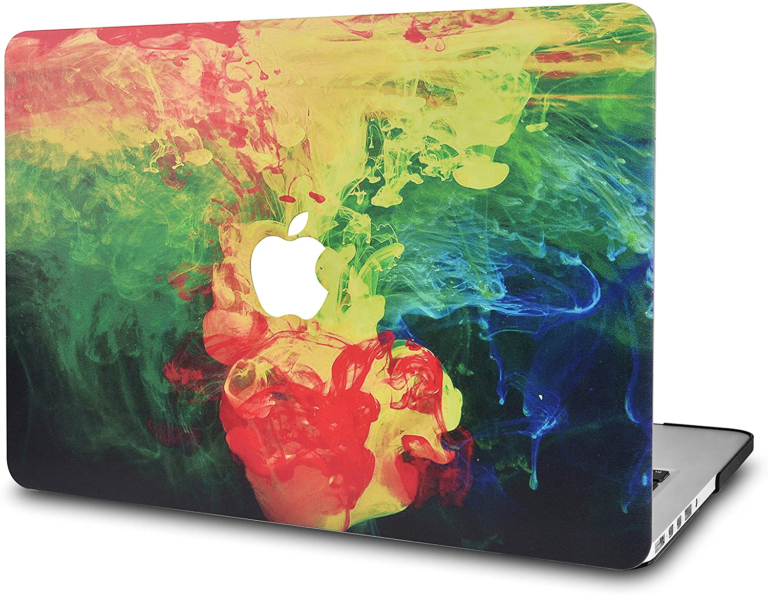 KECC Laptop Case for MacBook Air 13 Inch Plastic Case Hard Shell Cover A1466/A1369 (Ink Diffusion)