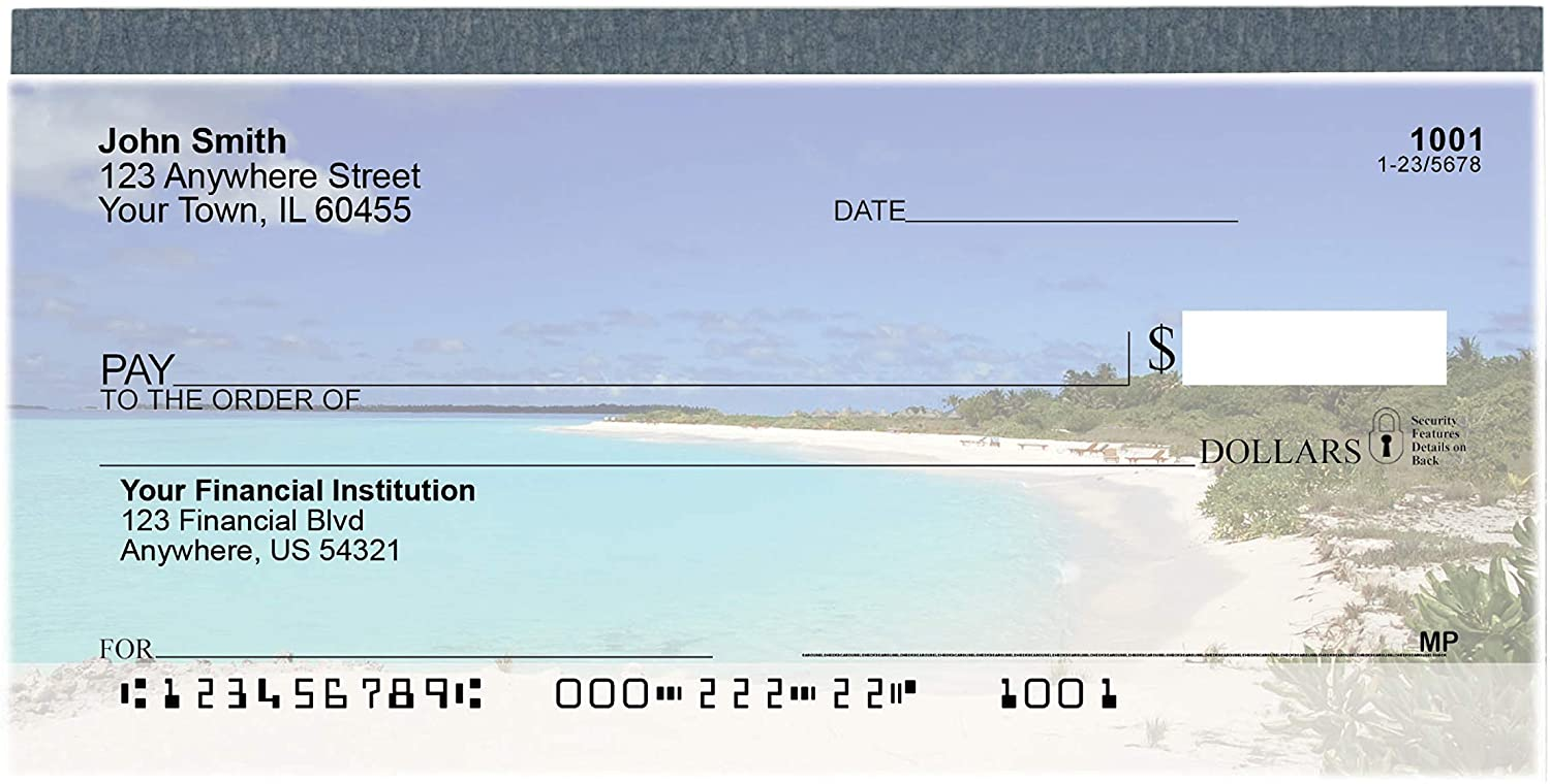 Beach Getaway Top Tear Value Priced Personal Checks (2 Boxes of Singles, Qty. 250)