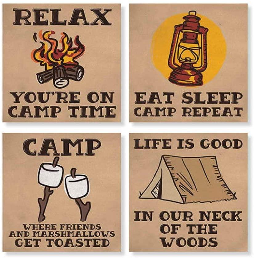 Carson Camping Square House Coaster Set