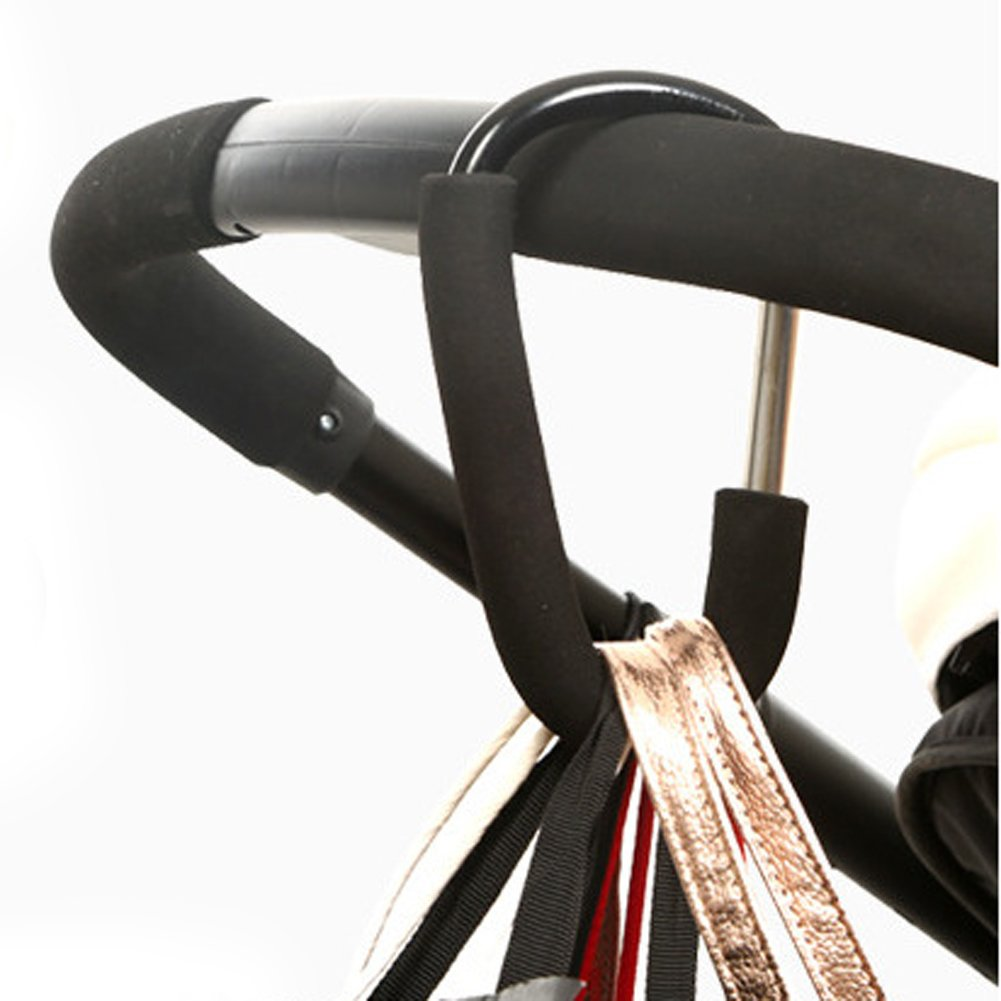 Aluminium Baby Stroller Hooks Button Carabiner Shopping Bags Carriage Hooks Pushchair Pram Bags Carrier Hook Clip (S)