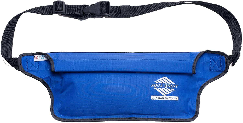 Aqua Quest AquaRoo Money Belt - The Worlds Original 100% Waterproof Waist Pack Travel Pouch, Since 1994 - Comfortable, Adjustable, Lightweight - Black, Blue, Grey or Camo