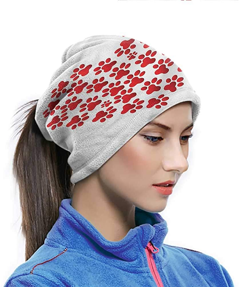 Headband Cat, Heart Shape Cat and Dog Paw Non Slip Face Scarf Can Be Wear All Day in Any Weather 10 x 11.6 Inch