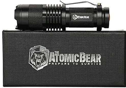 Tactical Flashlight - Small and Powerful Pocket Size LED Flashlight to Dominate The Darkness - Self Defense - Zoomable - Water Resistant Gear