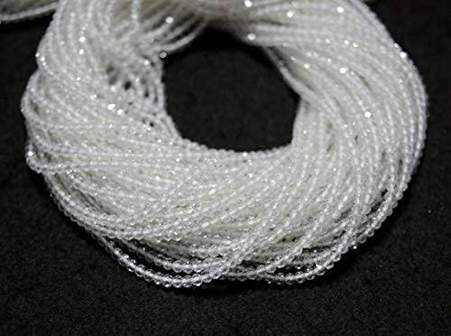 GemAbyss Beads Gemstone 5 Strands, 2.5mm Beads,White Topaz Beads, White Topaz Gem Stone, Faceted Rondelle, Gemstone Beads, 13 Inch Code-MVG-31499