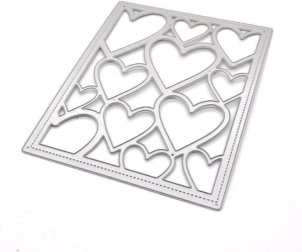 KSCRAFT Heart Frames Metal Cutting Dies Stencils for DIY Scrapbooking Decorative Embossing DIY Paper Cards