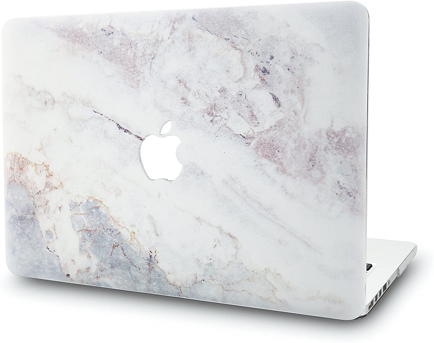 KECC Laptop Case for Old MacBook Pro 13 (CD Drive) Plastic Case Hard Shell Cover A1278 (White Marble 2)