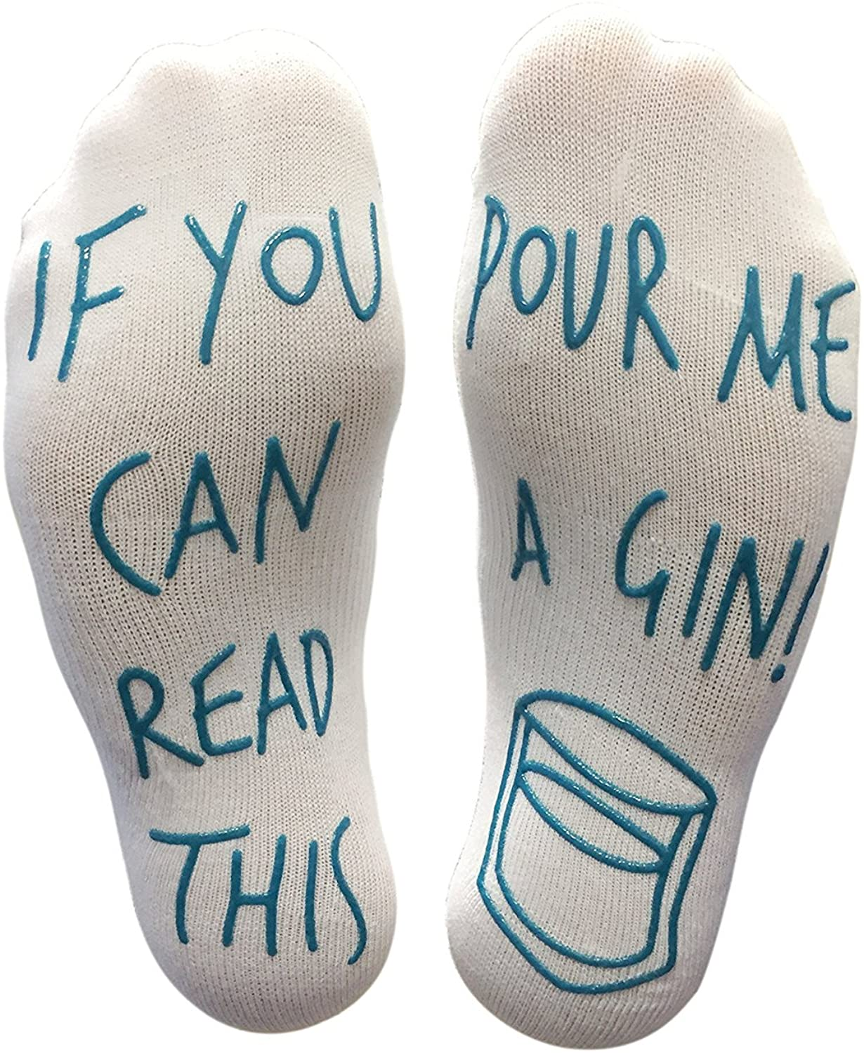'If You Can Read This Pour Me A Gin' Funny Socks - Perfect Joke Novelty Gift For Men & Women