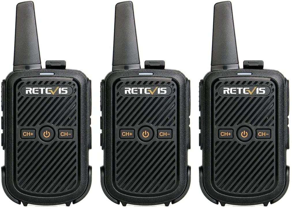 Retevis RT15 Small Walkie Talkies for Adults Kids Rechargeable 16 Channel Handsfree Mini 2 Way Radio(3 Pack)