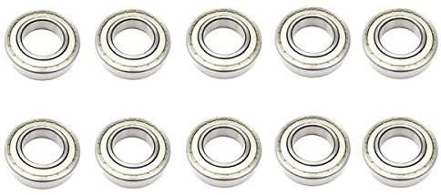 10x 6211 ZZ Metal Shielded Deep Groove Ball Bearings - 55x100x21 mm