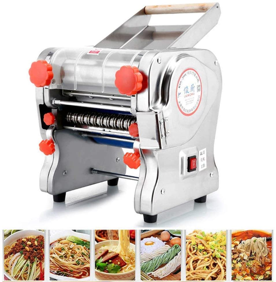 Hengwei 750W 110V Stainless Steel Commercial Electric Noodle Making Pasta Maker Dough Roller Noodle Cutting Machine(Noodle Width 18CM,Knife Length 18cm,Noodle Width 18mm)
