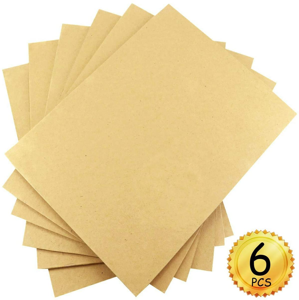 YG_Oline 6 Pcs 9 11.8 Hardboard Panels, Transport Hardboard Packaging Board Particle Board DIY Painting Crafts, 1/8 in Thickness