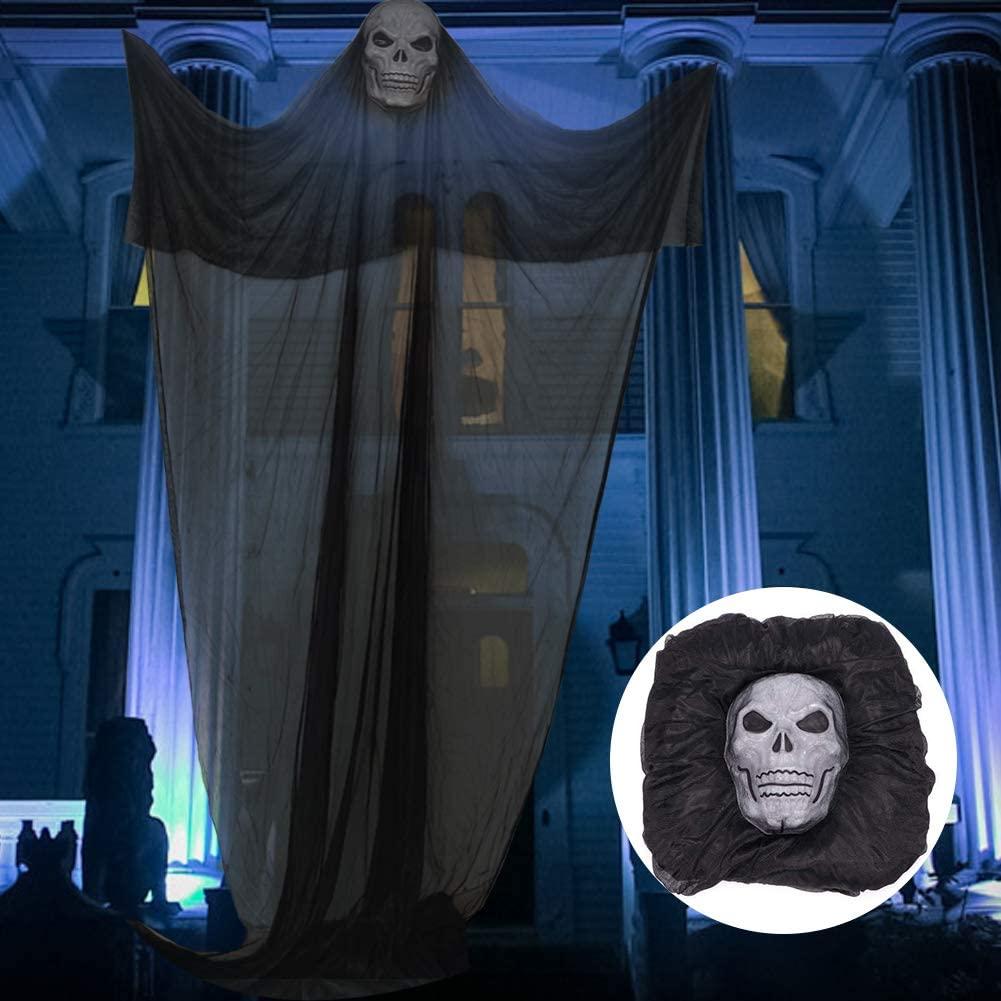 Halloween Hanging Ghost Prop Hanging Skeleton Flying Ghost, Halloween Hanging Decorations for Yard Outdoor Indoor Party Bar Decor, 3.3m/10.8ft Long