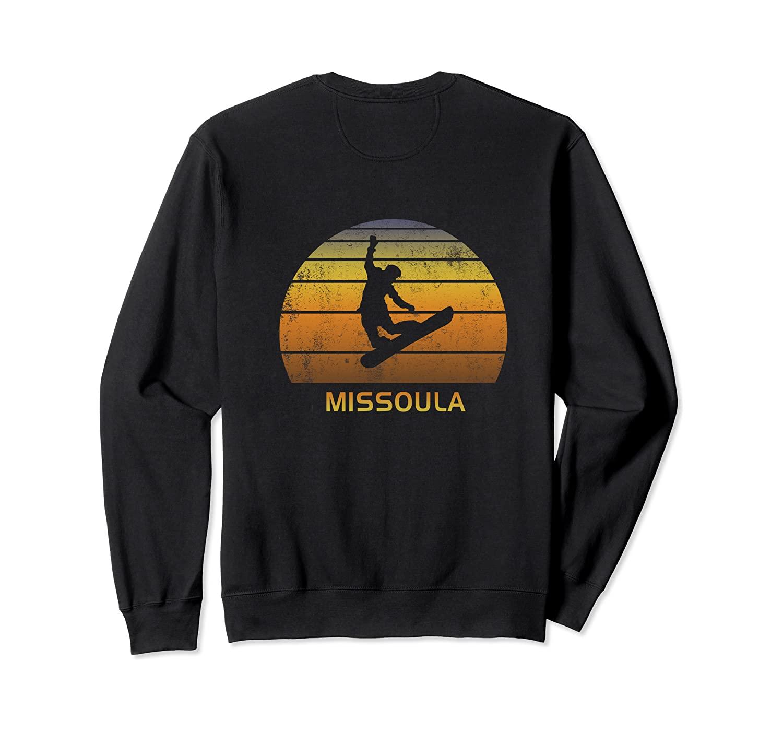 Retro Snowboard Missoula Montana Sweatshirt
